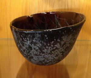 db Studio Glass Bowl Blue-Grey Speckle