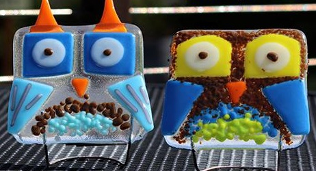 db Studio Glass Classes for Kids and thier Moms - Halloween Owls