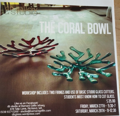 db Glass Studio: Coral Bowl Workshop