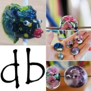 db Studio Kilnformed Fused Artisan Glass Works and Instruction, Bead Making