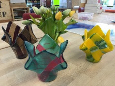 Drape Vase Class. db Glass Studio, Richland, Washington